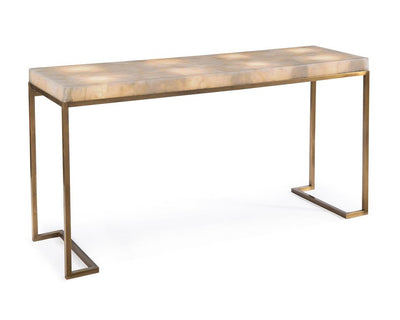 Calcite and Brass Console Table