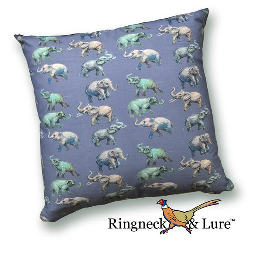 E;lephants Navy Pillow from Ringneck & Lure