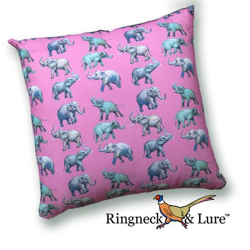 Elephants Raspberry Pillow from Ringneck & Lure