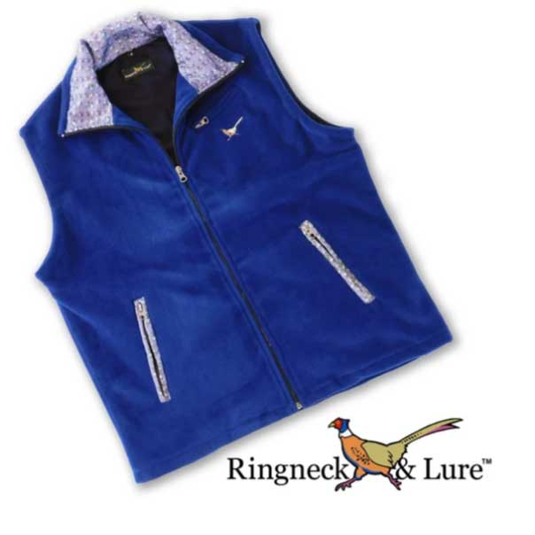 Elephants Navy and Royal Blue Fleece Vest Ringneck & Lure
