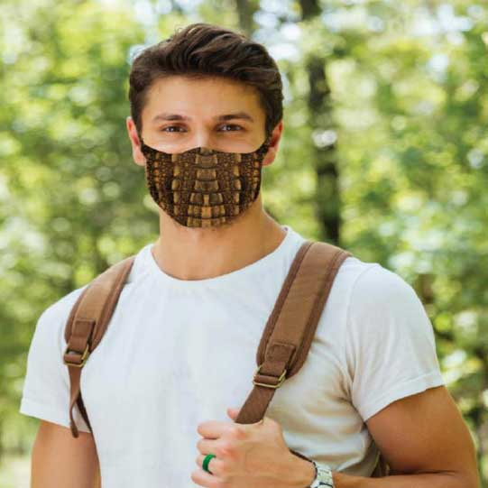 Fashionable face coverings Crocodile Mask