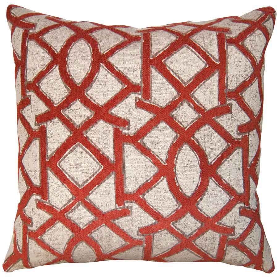 Firestone Lattice Throw Pillow from Square Feathers