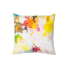 Flower Child linen pillow in vivid colors from Laura Park Designs. Square sofa pillow