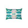 Flower child emerald linen pillow in bold greens from Laura Park Designs. Lumbar sofa pillow