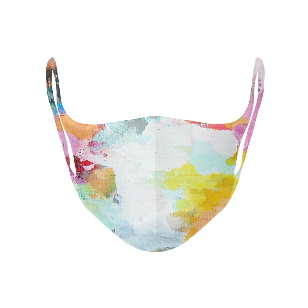 Flower Child face mask in multi colors from Laura Park Designs