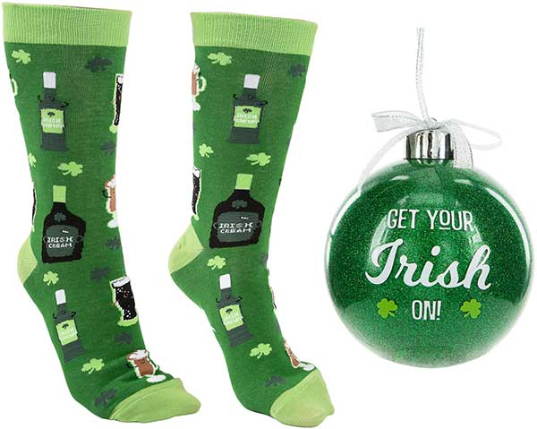 Get Your Irish On Christmas socks and ornament product image