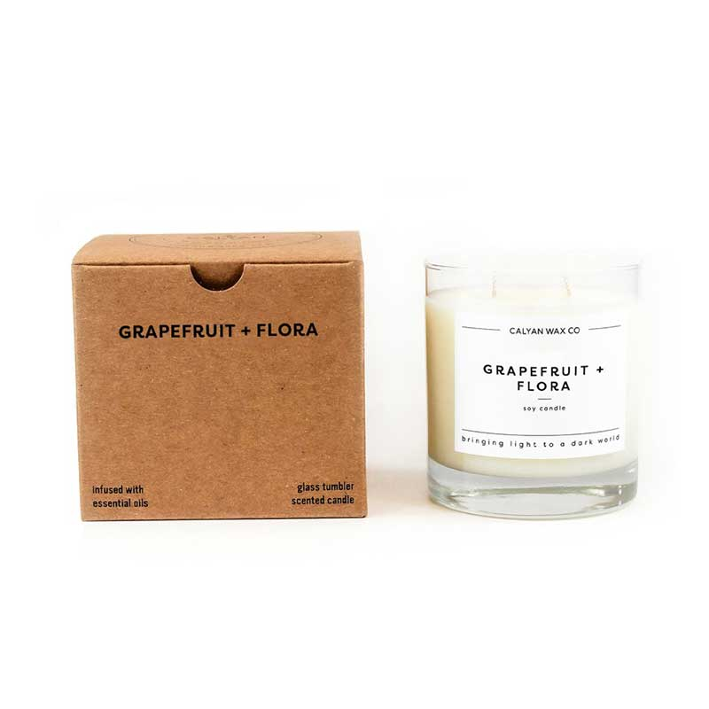 Grapefruit + Flora Candle