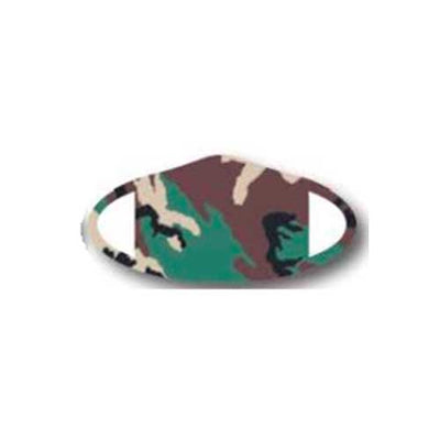Deco Mask Green Camo face covering stretches for snug fit