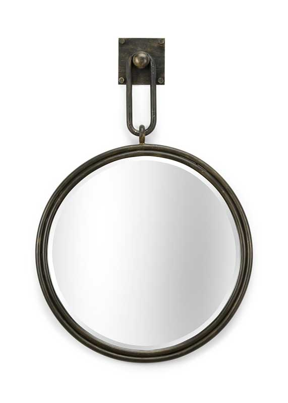 Grenada Mirror in bronze beveled iron frame from Wildwood