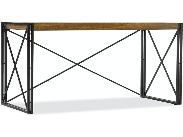 Rustique Writing Desk mango wood and iron from Hooker Furniture front view