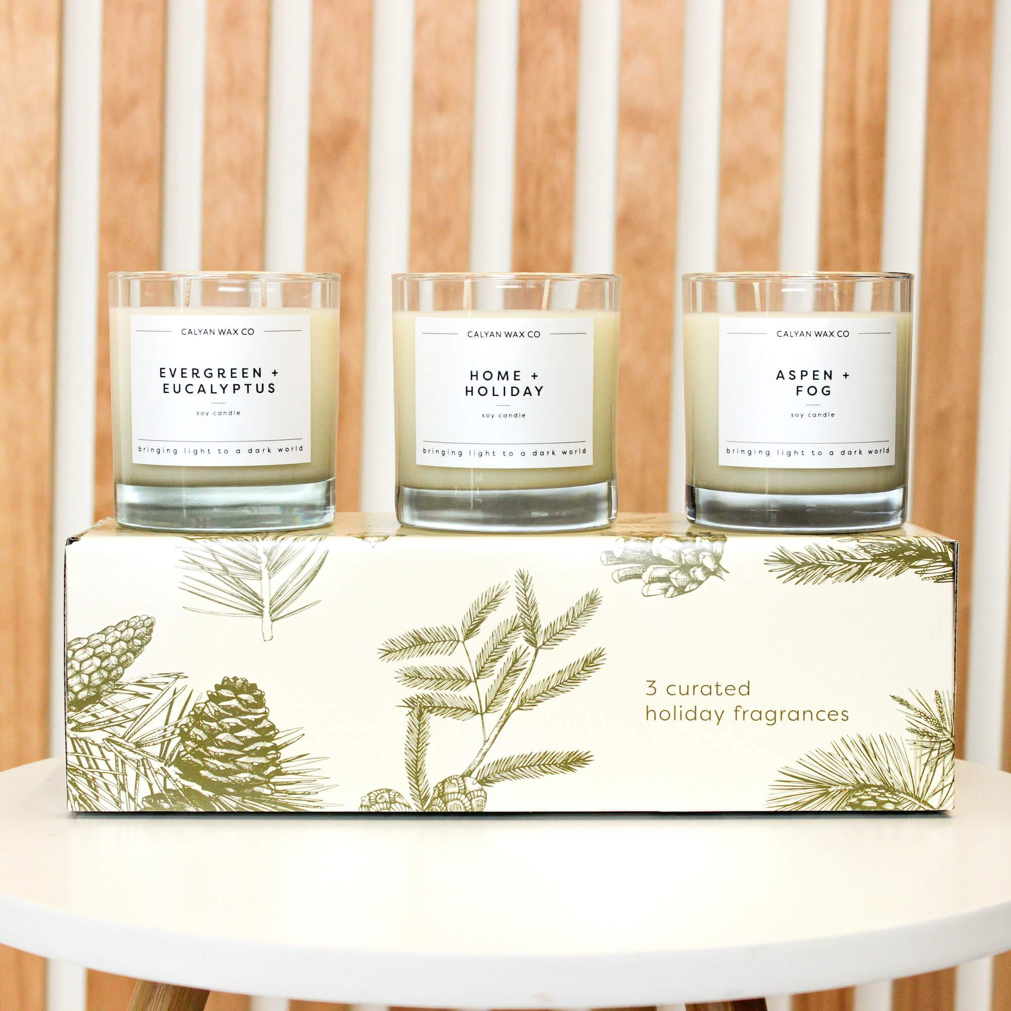 Holiday Candle Gift Scent Gift Special with three exclusive scents plus amber jar gift