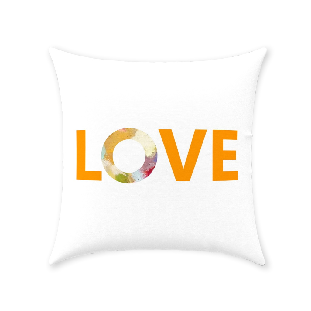 Indigo Girl Blue Love Pillow with Love on white and pattern reverse from Laura Park Designs