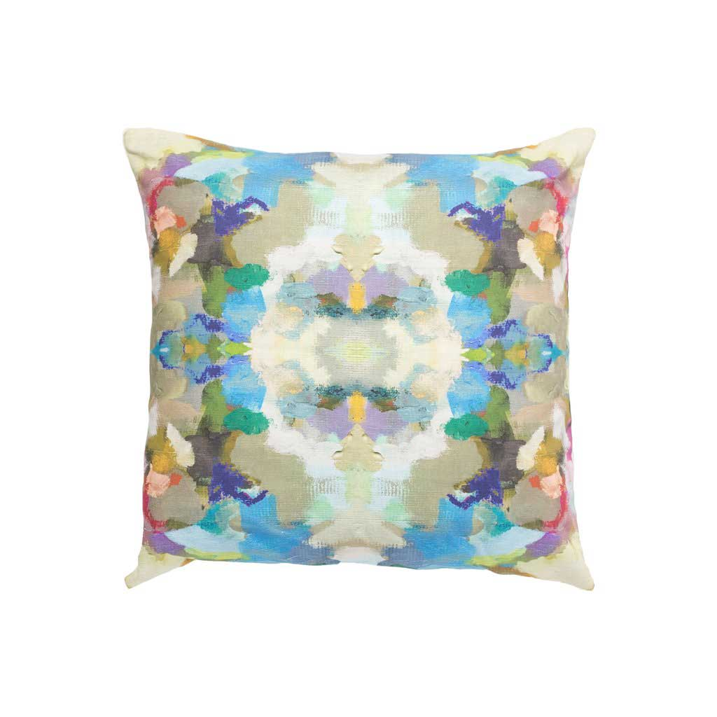 Laura Park Designs Indigo Girl Blue Outdoor Pillow Square