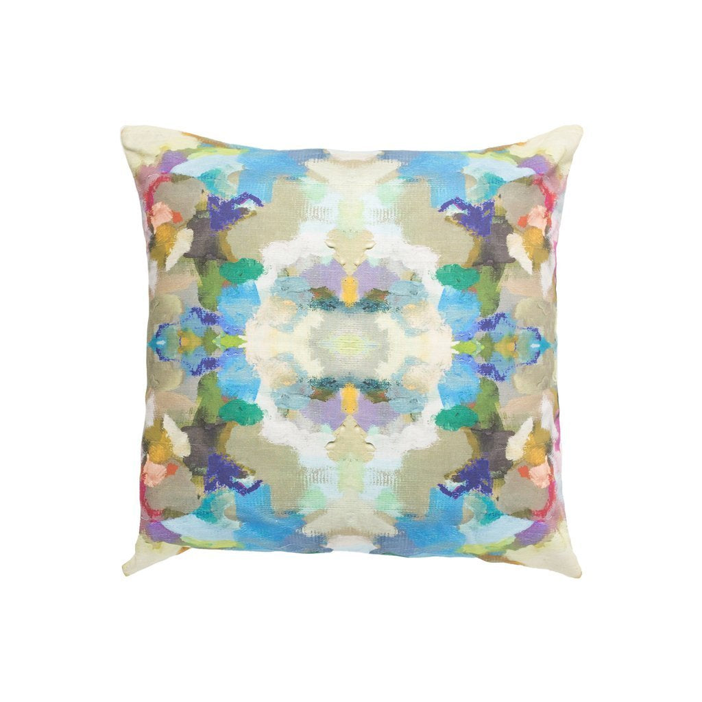 Indigo Girl Blue Sunbrella® fabric square pillow from Laura Park Designs