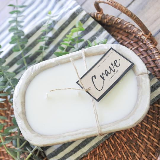 Crave Candles Co. Dough Bowl mini candle in cream colored container