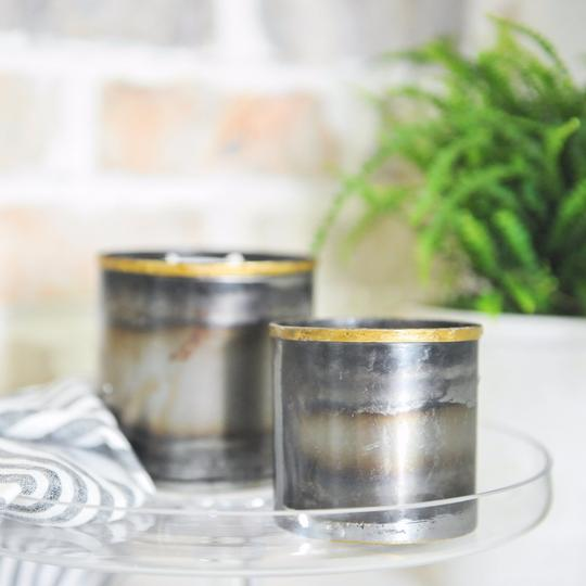 Steel City Pewter Mini candle in pewter tin from Crave Candles Company