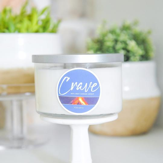 Crave Candles Co. Symphony 3 wick candle with 20 ounces of soy wax in your favorite scent