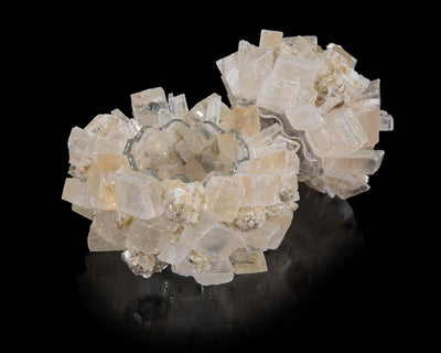 Lemon calcite with mica box table accessory from John-Richard top open