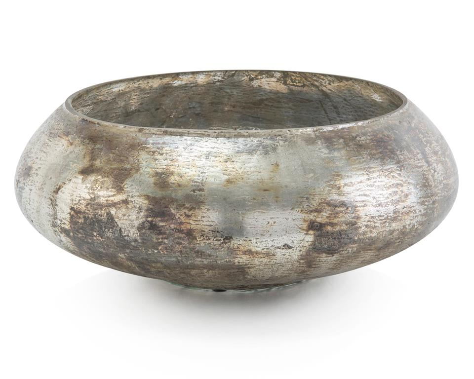 Burnished Silver Bowl