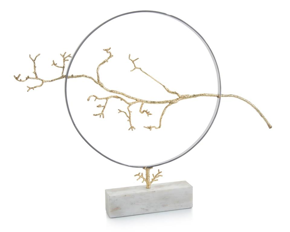 Hoop and branch sculpture from John Richard Collection