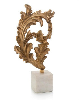 Gold Baroque Leaf on Marble - Large