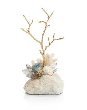 Agate and Brass Twig Sculpture John-Richard Collection