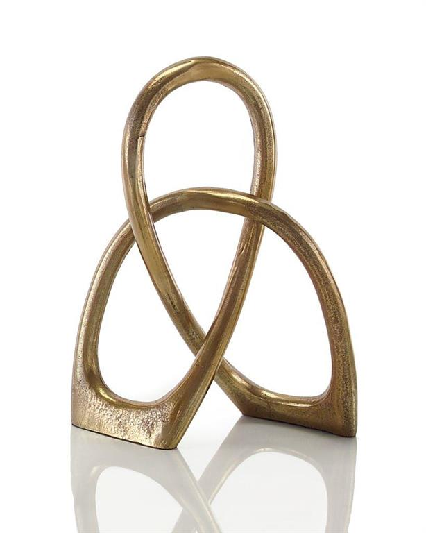 Aged gold entwined sculpture from John-Richard Collection