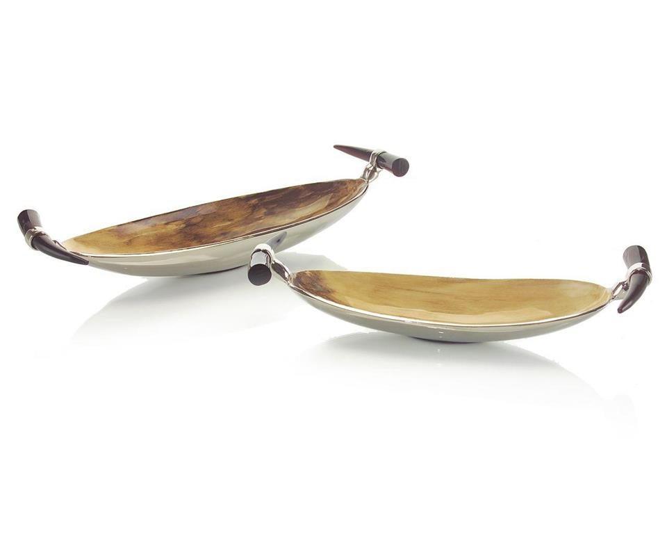 Brown & Cream Lacquered Bowls