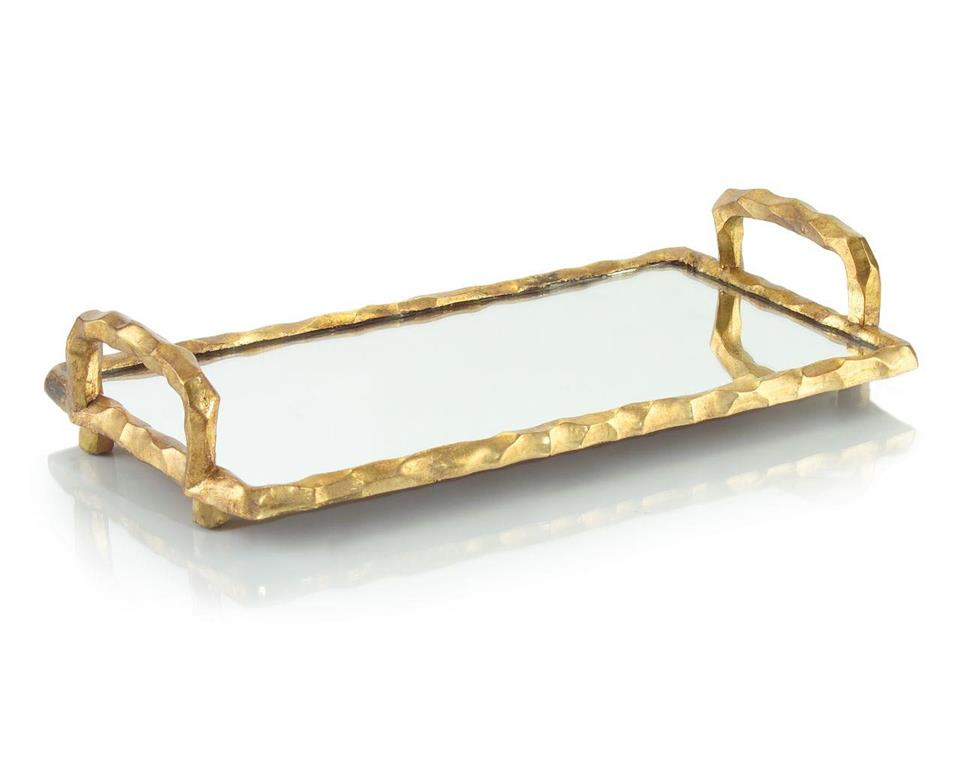 Mirrored Tray with Handles - Large