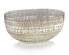 Etched Mercury Glass Bowl - Large