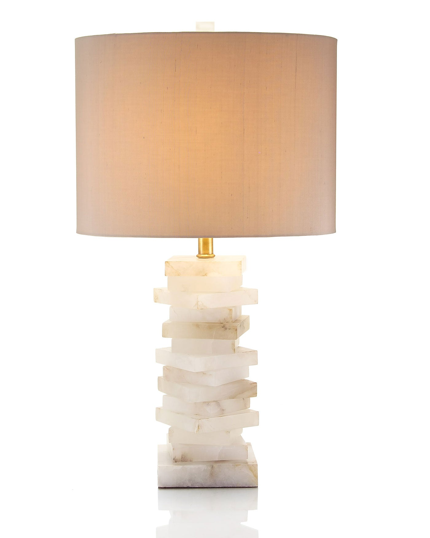 Alabaster Block Lamp