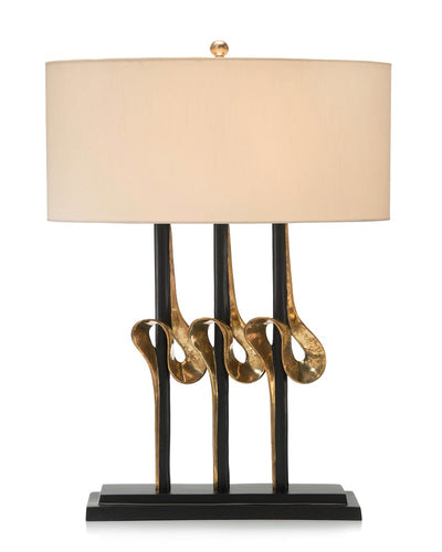 Brass Ribbons Table Lamp