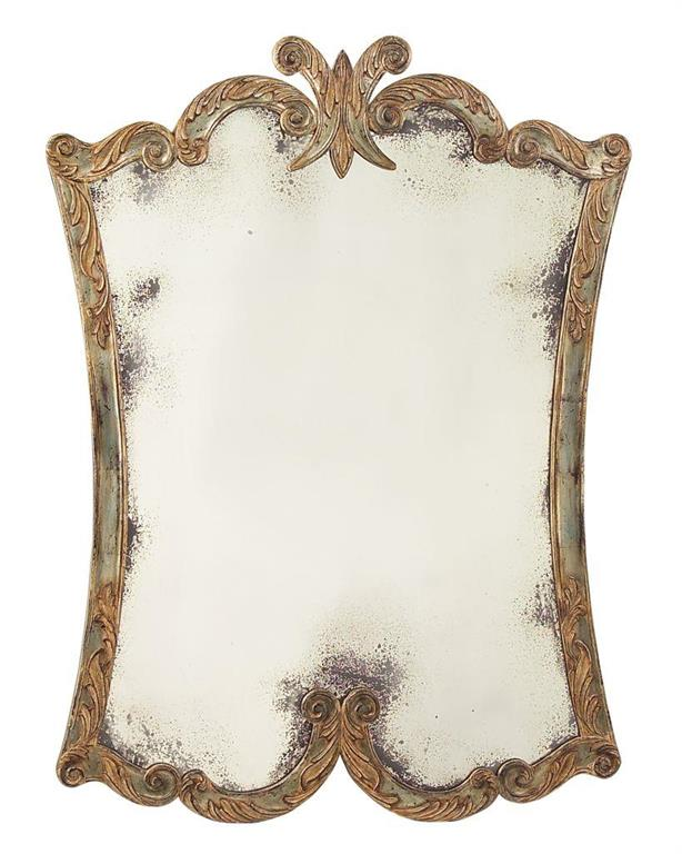 Arezzo Mirror hand carved frame with acanthus leaf decoration from John-Richard Collection