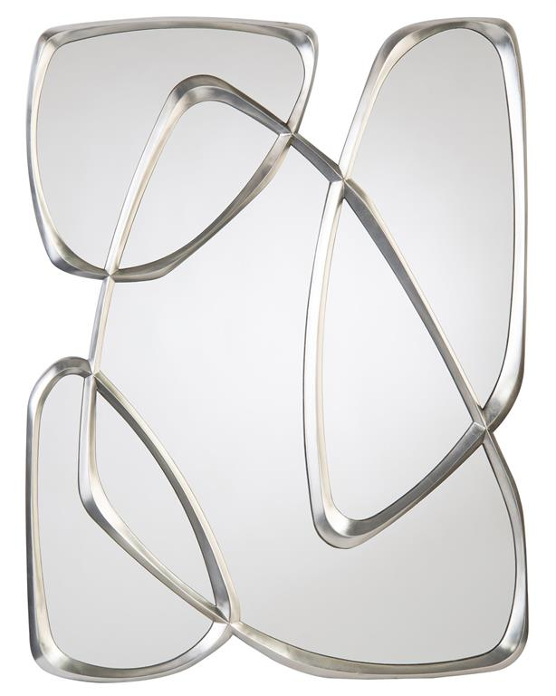 Zeta mirror in pewter of organic shapes from John-Richard Collection