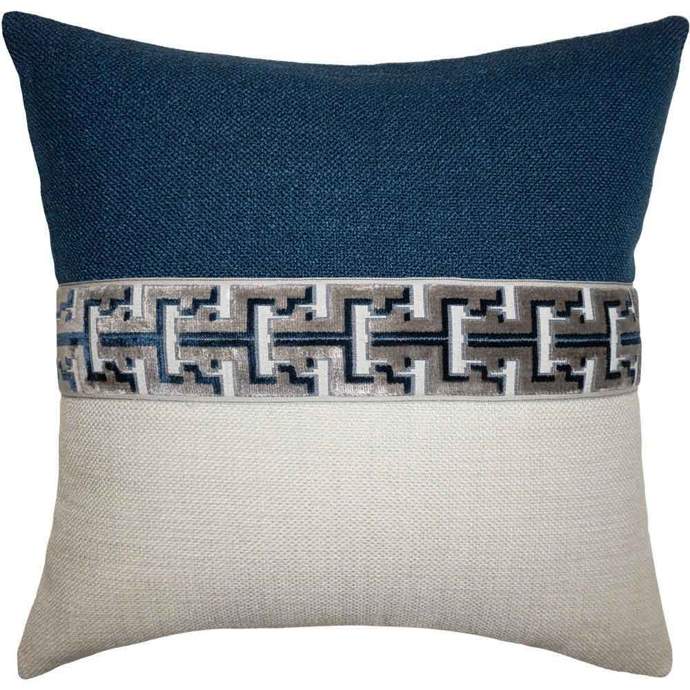 Jager Battleship Blue Square Feathers Pillow