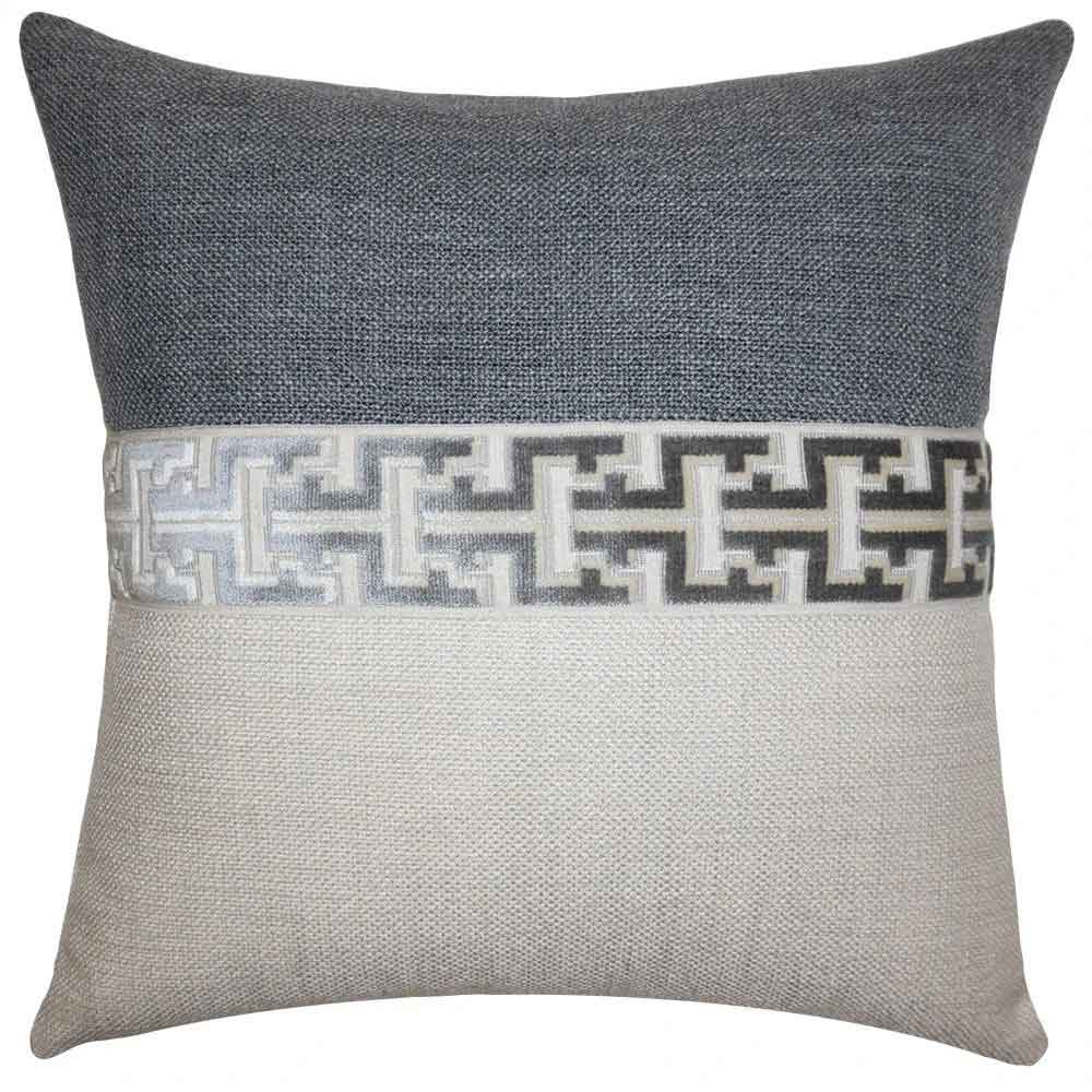 Jager Grey Pillow Square Feathers