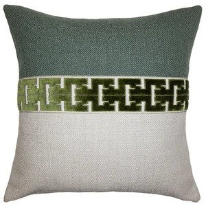 Jager Lime Pillow Square Feathers
