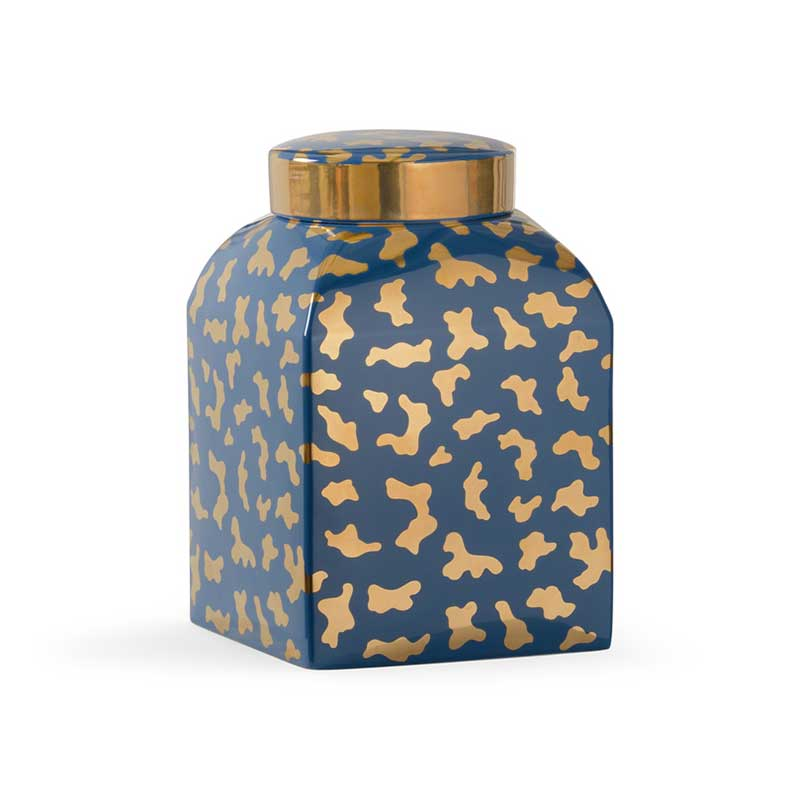 Jungle Ginger Jar in blue by Shayla Copas from Chelsea House
