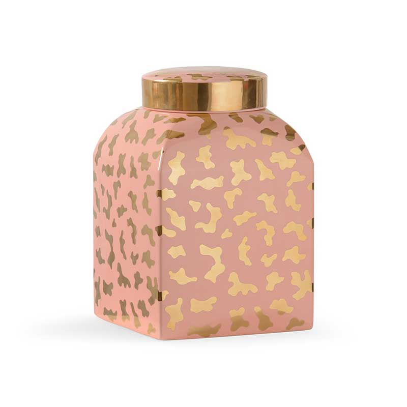Jungle Ginger Jar in coral by Shayla Copas from Chelsea House