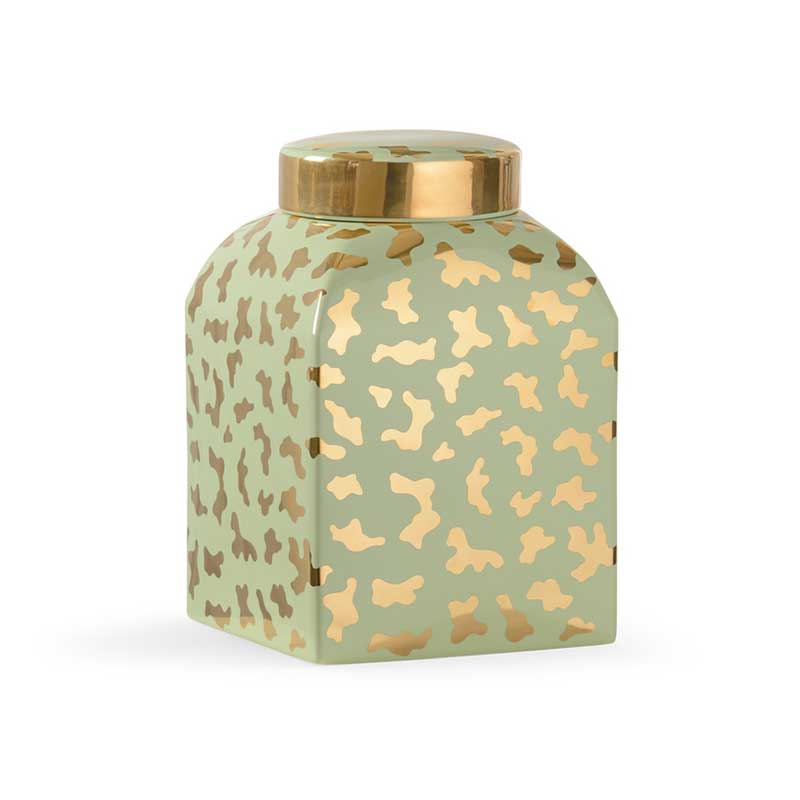 Jungle Ginger Jar in pistachio by Shayla Copas from Chelsea House