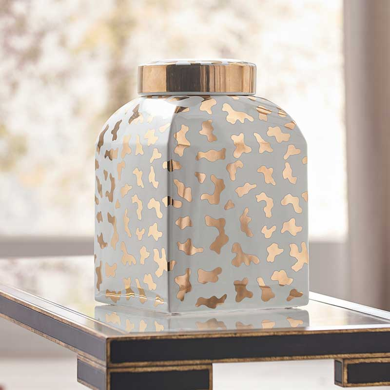 Jungle Ginger Jar in white by Shayla Copas from Chelsea House lifestyle image