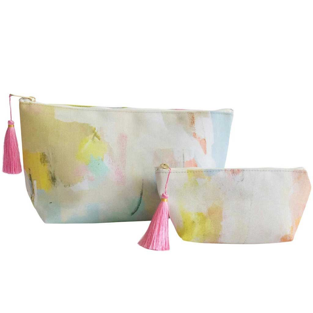 Coral Bay Orange Cosmetic Bag Laura Park Designs