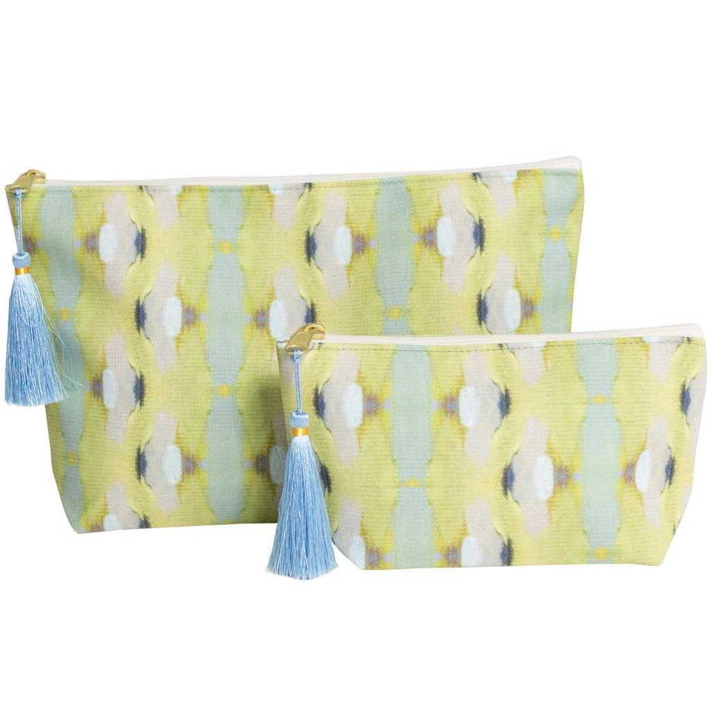 Summer Garden Lime Cosmetic Bag Laura Park Designs