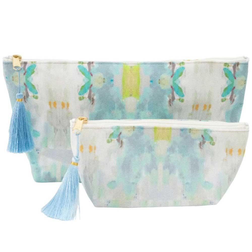 Coral Bay Green Cosmetic Bag Laura Park Designs