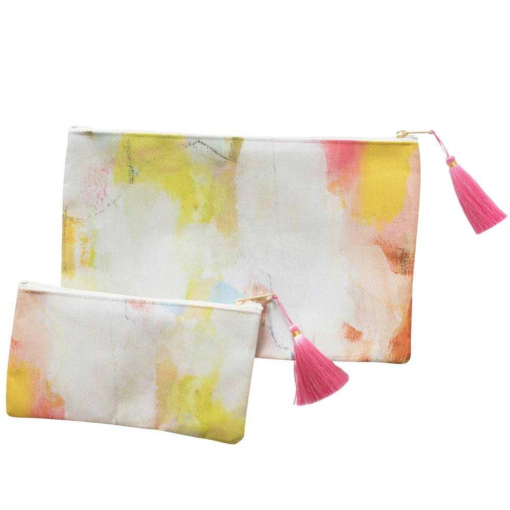 Laura Park Designs Coral Bay Tassel Pouch Small T-Bottom