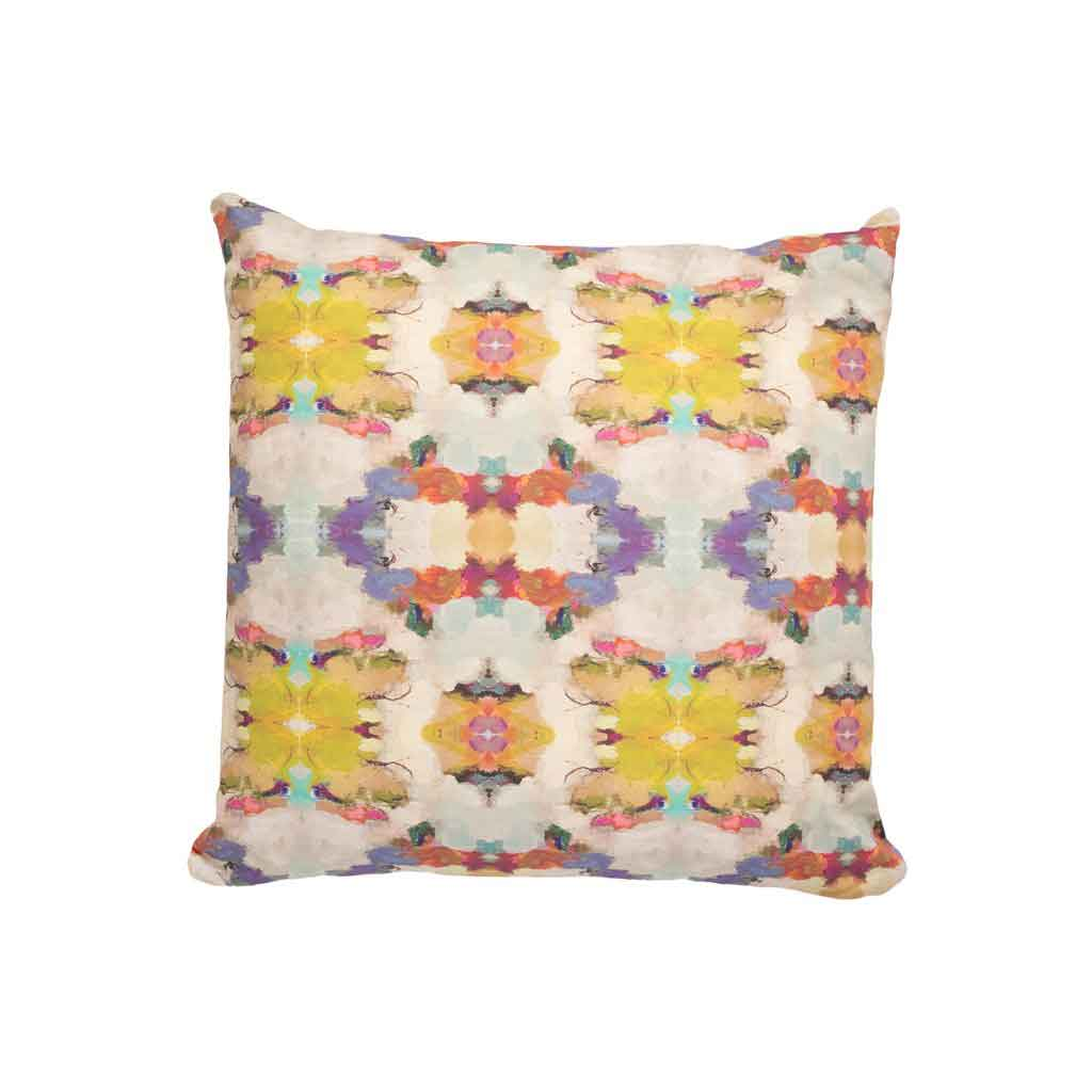 Carpe Diem Purple Linen Cotton Pillow Laura Park Designs Square