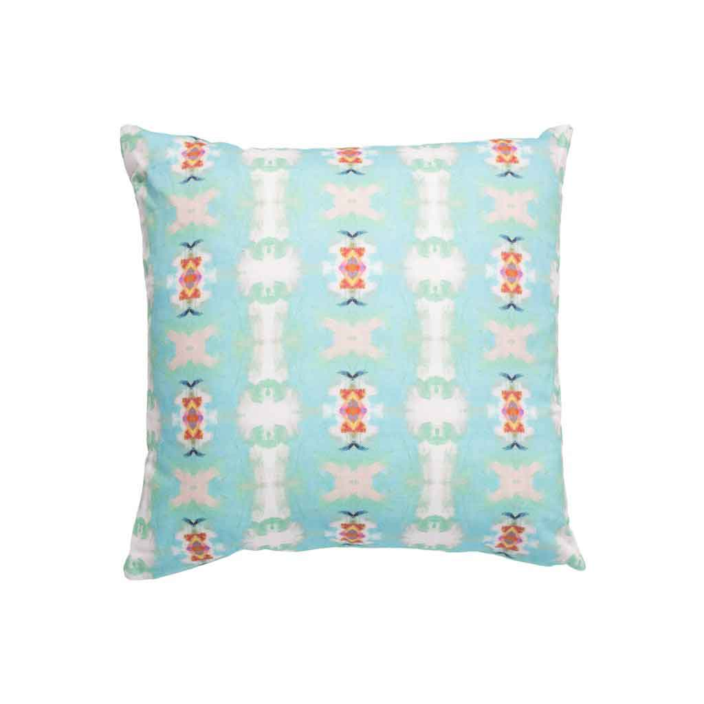Coral Bay Red Linen Cotton Pillow Laura Park Designs Square