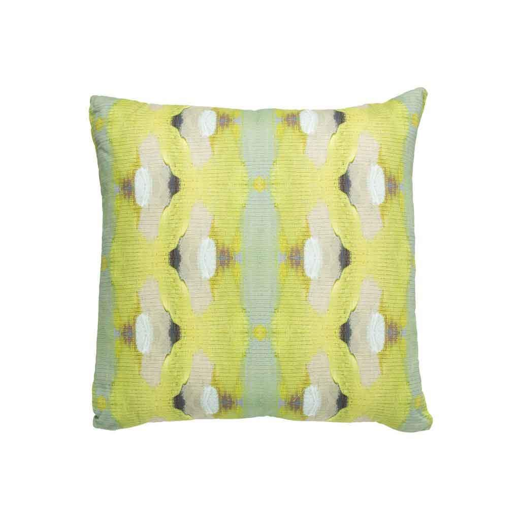 Summer Garden Lime Linen Cotton Pillow Laura Park Designs Square