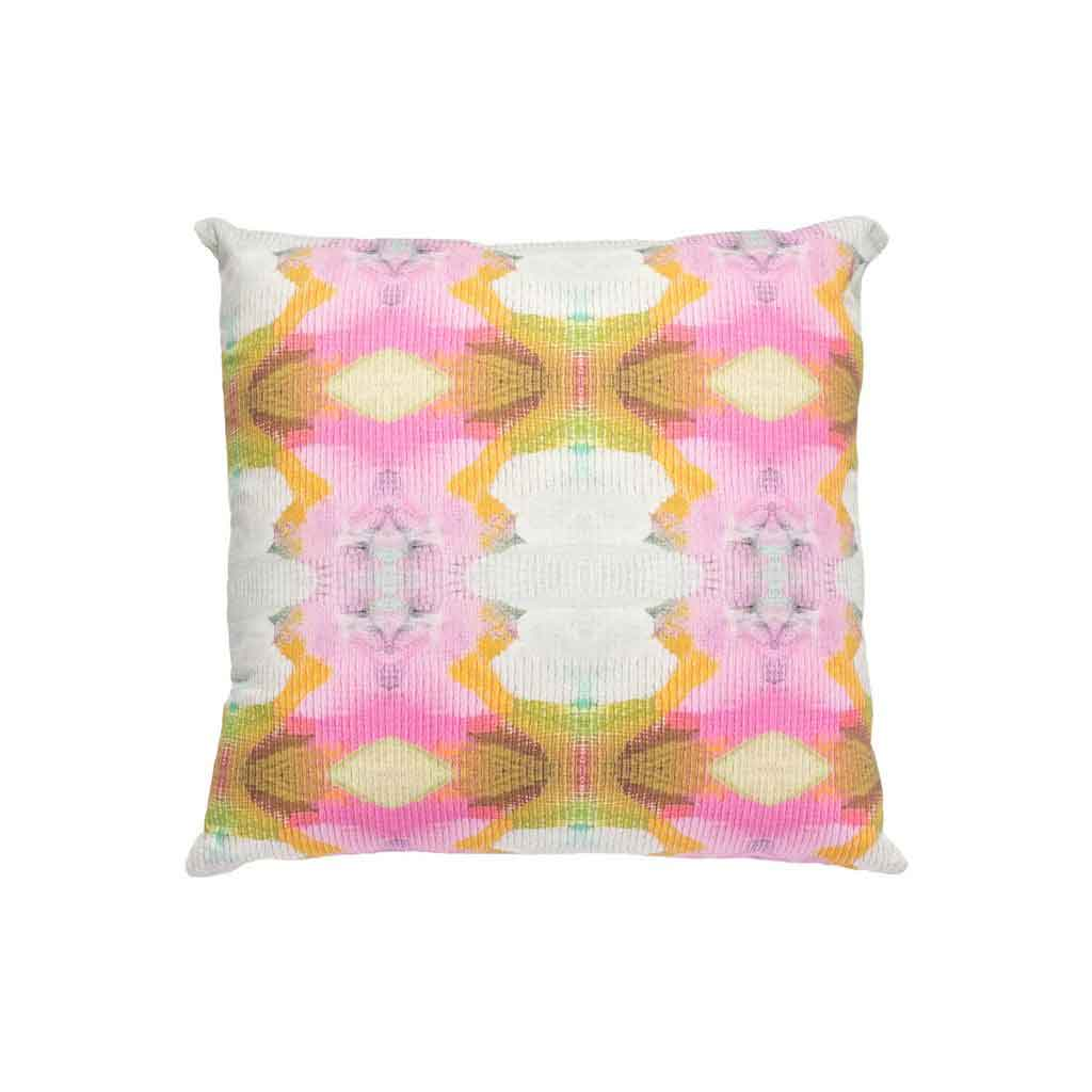 Under The Sea Hot Pink Cotton Linen Pillow Laura Park Designs Square