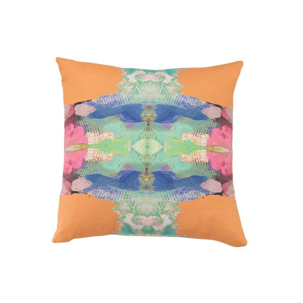 Provence L'Orange Faux Hide Pillow Laura Park Designs Square